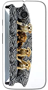 Timpax protective Armor Hard Bumper Back Case Cover. Multicolor printed on 3 Dimensional case with latest & finest graphic design art. Compatible with Motorola Moto -G-2 (2nd Gen )Design No : TDZ-25161