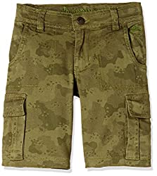 UFO Boys' Shorts (AW16-NDF-BKT-292_Dark Khaki_12 - 13 years)
