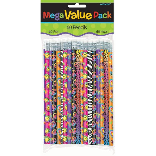 Amscan Mega Value Pack Party Favors 60/Pkg Girl Pencils