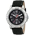 """Timex Men's T499889J """"Expedition"""" Watch with Black Leather Band"""