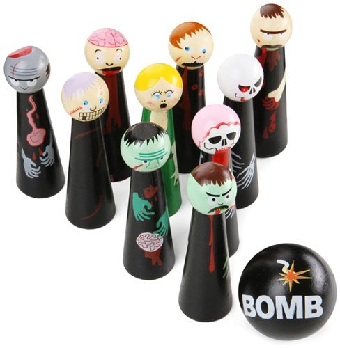 Bowling Zombies Wooden Novelty Game Model: 53756