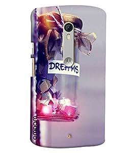 Omnam Dreams Love In Jar Printed Printed Designer Back Cover Case For Moto X Style