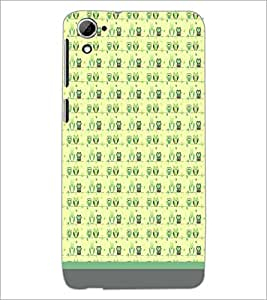 PrintDhaba Owl Pattern D-1653 Back Case Cover for HTC DESIRE 826 (Multi-Coloured)