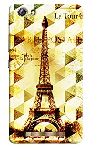 Omnam Eiffil Tower In Prism Effect Printed Designer Back Cover Case For Gionee Marathon M5 Lite