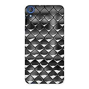 Ajay Enterprises black and white Cage Back Case Cover for HTC Desire 820
