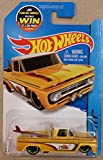 Hot wheels custom '62 chevy yellow truck with surf board 72/250