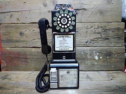 アメリカの公衆電話機型テレフォン(1957年モデル)レトロブラック アンティーク電話機 ビンテージ電話機 電話機