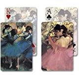 Dancers In Blue / Dancers In Pink Bridge Double Deck Playing Cards By Laurel Ink