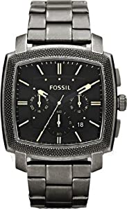 Mens Watch Fossil JR1397 Stainless Steel Case and Bracelet Black Dial Chronogra Mens Watch Fossil