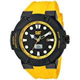CAT WATCHES Men's 'Shockmaster' Quartz Stainless Steel and Silicone Casual, Color:Yellow (Model: SE16127117)