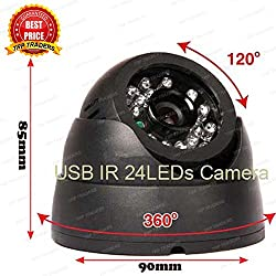 Trp Traders CCTV Dome 24 Ir Night Vision Camera DVR With Memory Card Slot Recording, USB