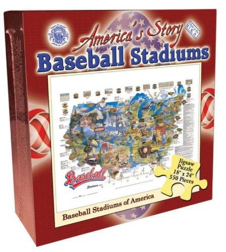 Baseball Stadiums 550 Piece Jigsaw Puzzle