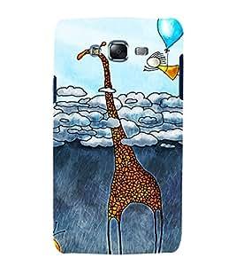 printtech Abstract Art Giraffe Back Case Cover for Samsung Galaxy J1 / Samsung Galaxy J1 J100F