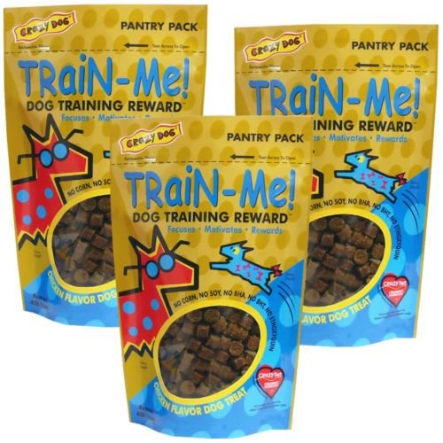 3 PACK Crazy Dog Train-Me! Treats Chicken Flavor (12 oz) (Buffalo Blue Cheese Combos compare prices)
