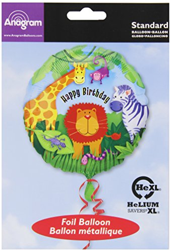 "Anagram International Wild Kingdom Birthday Balloon, 18"", Multicolor"