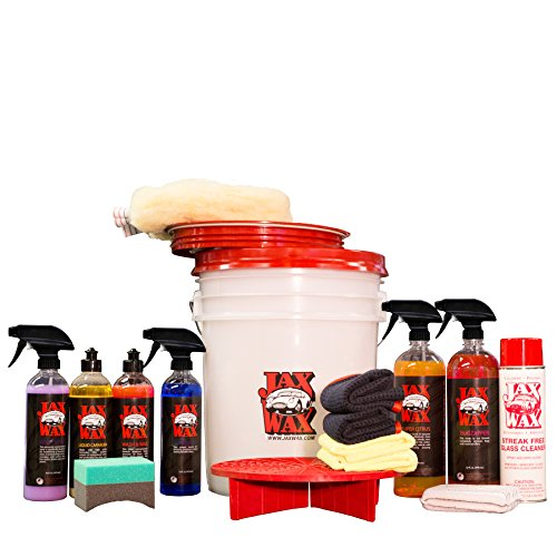 Jax Wax Complete Scratch-Free Wash Wax and Detail Bucket Car Care Organizer Kit (Detailing Organizer compare prices)