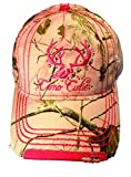 Camo Cutie Cap, Womens Realtree Camo Cap with Hot Pink Trim and Camo Cutie logo (Plus Free Camo Cutie Can Koozie)