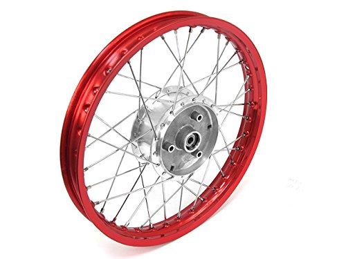 Roue-rayons-Jante-en-rouge-rayons-Tuning-en-chrome-et-moyeu-16-tous-les-types-de-Moped