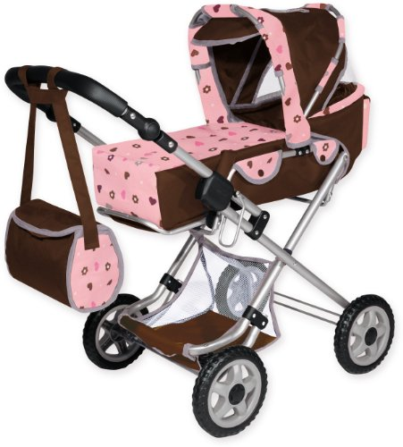 Bayer Design Doll Pram City Star (Brown)