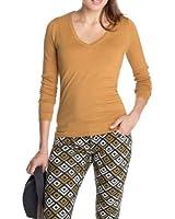 ESPRIT Collection Damen Sweatshirt 093EO1I003, V-Ausschnitt