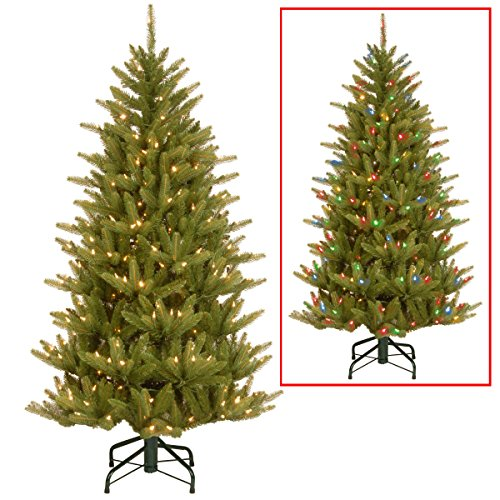 4.5' Feel Real Fraser Slim Fir Artificial Christmas Tree, Color-Change Led Lights