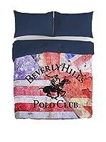 Beverly Hills Polo Club Juego De Funda Nórdica Baltimore (Azul Marino / Rojo)