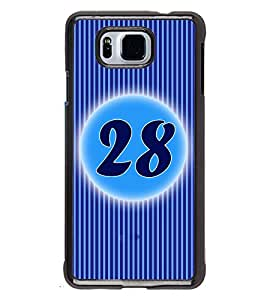 Printvisa 2D Printed Numerology Designer back case cover for Samsung Galaxy Alpha- D4248