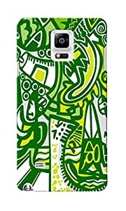CimaCase Abstract Designer 3D Printed Case Cover For Samsung Galaxy Note 4