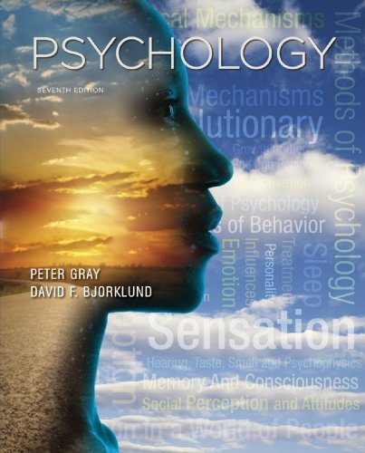 Pdf By Peter O Gray Psychology Seventh Edition