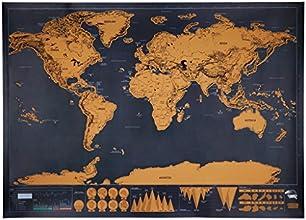 Mapamundi mural para rascar, Mapa del mundo personalizado, Edición de lujo, 82.5 x 59.5 cm