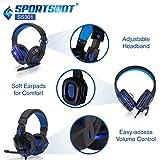 SportsBot SS301 LED Gaming Over-Ear Headset Headphone, Keyboard & Mouse Combo Set With 40mm Speaker Driver, High-Quality Microphone, Multimedia Keys & Window Key Lock, 4 DPI Levels - Blue
