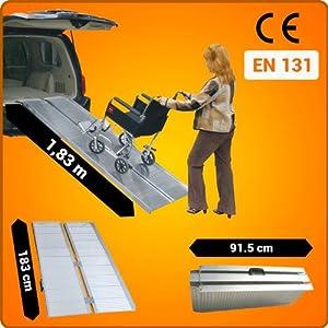 Rollstuhl Rampe klappbar 183cm 272kg faltbar Rollstuhlrampe Mobil Aluminium R6  BaumarktKundenbewertungen