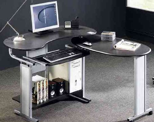 Folding Black Computer Desk by Piranha Trading Ltd with FREE EXPEDITED DELIVERY (PC3g)