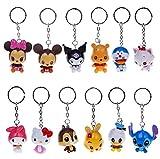 Ebuyingcity 12pcs Cartoon Disney Animals Capsule Minions Keychain Ornament Pendant