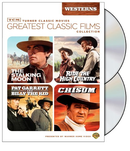 Cover art for  TCM Greatest Classic Film Collection: Westerns (The Stalking Moon / Ride the High Country / Pat Garrett and Billy the Kid / Chisum)