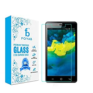 Reliance Jio Lyf Water 10 High Quality Tempered Glass [3D Touch Compatible- Tempered Glass] 0.2mm Screen Case Protection 99% Touch Accurate Fit (Clear,Comes with Warranty) by FOYAB