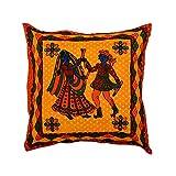 Famacart Sofa Pillow Kantha Work Cushion Cover Cotton 5 Pcs
