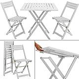 Wooden Garden Dining Furniture Set Folding Table Chairs set Acacia hardwood Outdoor WHITE