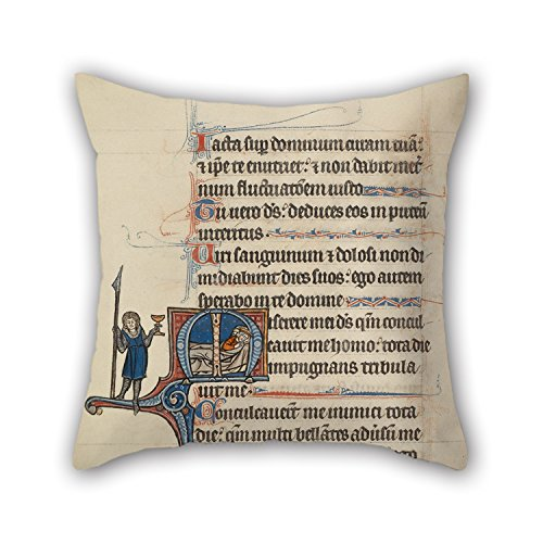 [Alphadecor 18 X 18 Inches / 45 By 45 Cm Oil Painting Bute Master (Franco-Flemish, Active About 1260 - 1290) - Initial M- David's Theft Of The Spear And Chalice Throw Cushion Covers ,twice Sides] (Master Chief Suit For Sale)