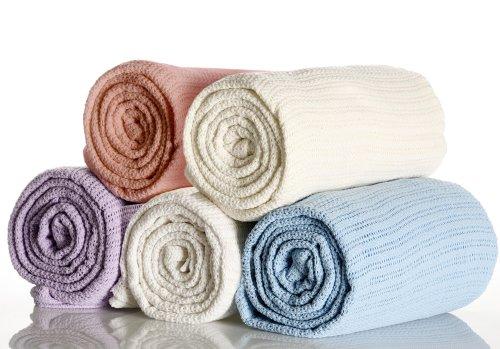 Nursery Baby Cellular Blanket Cream Cot / Cot Bed - Baby Cream Blanket