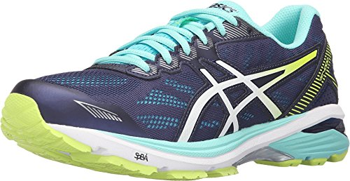 ASICS Women's Gt-1000 5 Running Shoe, Indigo Blue/White/Safety Yellow, 8.5 M US (Asics Gt 1000 compare prices)