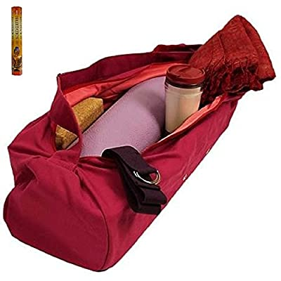Yogamatten Tasche pink XL 70 x 21 cm Inkl. 20 Meditation Räucherstäbchen, Geschenkt