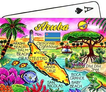 Aruba Map Collectible Souvenir Playing Cards