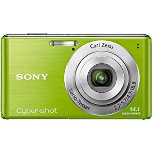 Sony Cyber-Shot DSC-W530 14.1 MP Digital Still Camera with Carl Zeiss Vario-Tessar 4x Wide-Angle Optical Zoom Lens and 2.7-inch LCD (Green)