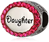 Disney Stainless Steel Oval Crystal Daughter Bead Charm