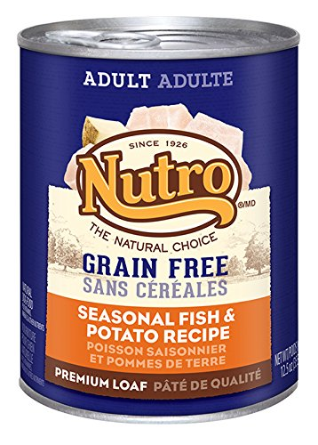 NUTRO Adult Grain Free Seasonal Fish and Potato Canned Dog Food, 12.5 oz. (Pack of 12) (Cheap Grain Free Dog Food compare prices)