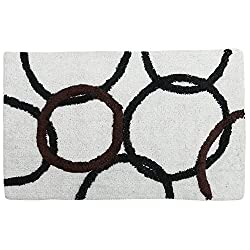 Style Homez Luxurious Hand Tufted Large Size Soft Feel Cotton Bath Mat, White Color