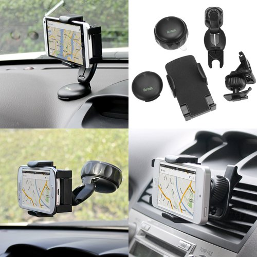 iKross 3in1 All-inclusive Compact Windshield / Dashboard / Air Vent Car Mount Holder for Apartment Phone / MP3 Player / Smartphone