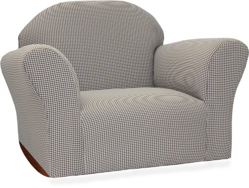 Fantasy Furniture Roundy Rocking Chair Gingham, Brown