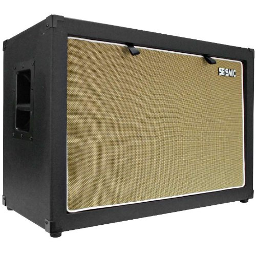 "Seismic Audio - 2X12 Guitar Speaker Cab Empty - 7 Ply Birch - 212 Speakerless Cabinet New 12"" Tolex - Black Tolex - Wheat Cloth Grill - Front Or Rear Loading Options"